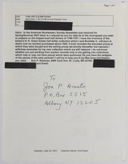 Jon P Amato Correspondence File, 2001