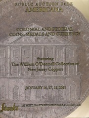 Americana: Colonial and Federal Coins, Medals and Currency, Featuring The William O'Donnell Collection of New Jersey Coppers
