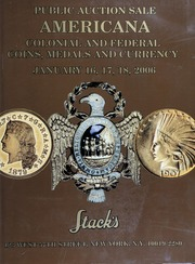 Americana: Colonial and Federal Coins, Medals and Currency (pg. 68)