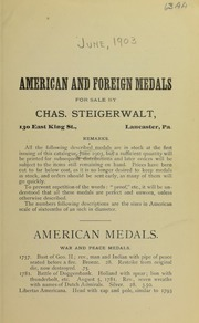 American and Foreign Medals, No. 63AA