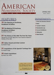 American Numismatic Society Magazine: Spring 2002