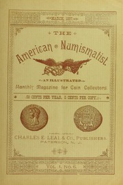The American Numismatist, vol. 1, no. 6