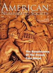 American Numismatic Society Magazine: Spring 2003
