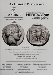 American Numismatic Society Magazine: 2011, Issue 1