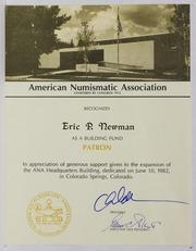 American Numismatic Association, 1983-1984