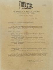 American Numismatic Society: Western Hemisphere Committee, 1976-1981