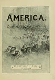 America : our national hymn