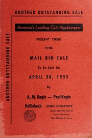 America's Leading Coin Auctioneers Present Their 194th Mail Bid Sale