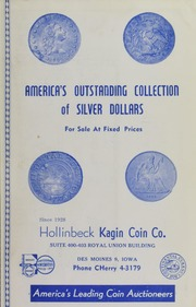 America's Outstanding Collection of Silver Dollars for Sale at Fixed Prices