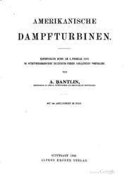 Amerikanische Dampfturbinen: Erweiterung eines am 2. Februar 1905 im ...