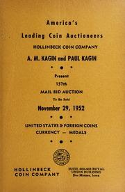 A.M. Kagin and Paul Kagin Present 137th Mail Bid Auction