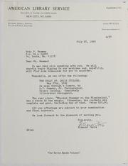 American Library Service Correspondence and Ephemera, 1978-1984