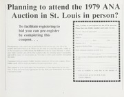 1979 ANA Auction