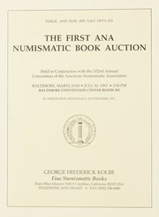 The First ANA Numismatic Book Auction