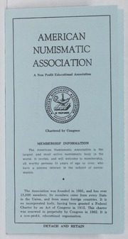 American Numismatic Association Certification Services, 1965-1970