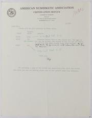American Numismatic Association Certification Services, 1976