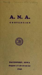 A.N.A. convention. [08/20/1946]