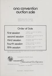 ANA Convention Auction Sale