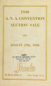 A.N.A. Convention Sale 1940 Detroit, MI