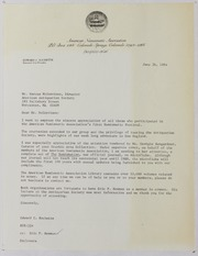 American Numismatic Association Festival Correspondence and Ephemera, 1984