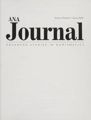 ANA Journal: Spring 2006, Vol. 1 No. 1