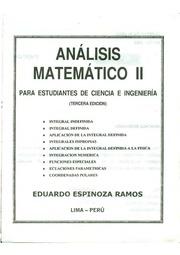 Analysis matematico 1 eduardo espinoza ramos online dating