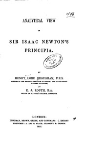 a view of sir isaac newton s philosophy pemberton henry  analytical view of sir isaac newton s principia