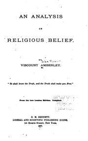 an analysis of religious beliefs Summary there is no official state religion in utopia people are allowed freedom of belief, with the consequence that there is a variety of religious sects or.