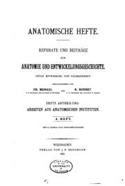 Vol 1: Anatomische hefte. abt.1