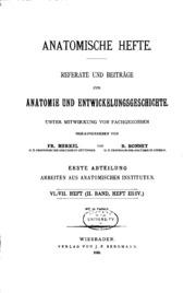 Anatomische hefte. abt.1