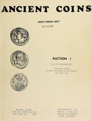 Ancient coins : auction 1 ... Warwick Hotel [11/18-19/1971]