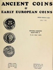 Ancient coins & early European coins : Myers/Adams auction 2 ... [05/11-12/1972]