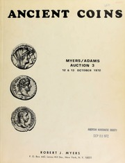 Ancient coins : Myers/Adams auction 3 ... Warwick Hotel ... [10/12-13/1972]