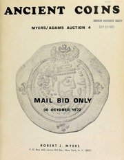 Ancient coins : Myers/Adams auction 4 ... mail bid only. [10/30/1972]