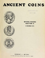 Ancient coins : Myers/Adams auction 6 ... [12/06/1973]