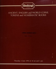 Ancient coins, [such as] a Pescennius Niger denarius, Antioch, rev. Spes advancing left; [and] English and world coins; [as well as] tokens, and numismatic books, from the remaining stock and library of Siegfried E. Schwer ... [06/04/1992]