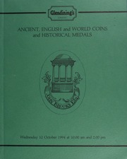 Ancient, [containing] Greek, Roman, and Byzantine, English and world coins, [including] a comprehensive collection of halfcrowns, the property of a gentleman; ] ... [10/12/1994]
