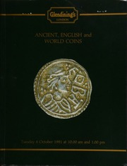 Ancient, English and world coins, [including] the unique presentation medal to Sir Benjamin Charles Brodie, Sr.; a collection of sovereigns, (1817-1989); a Kings of Mercia, Cynethryth (wife of Offa) penny,  ... [10/08/1991]