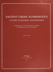 Ancient Greek Numismatics: A Guide to Reading and Research
