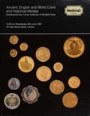 Ancient, [including] Greek, Roman, and Byzantine, English and world coins, [containing] Maundy money, [and] a collection of enamelled coin jewellery; and historical medals,  ... [06/25/1997]