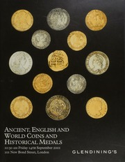 Ancient, [including] Greek and Roman, English coins, [containing] imported Celtic coinage, British gold proof sets, [and] Scottish and Irish coins, and world coins,  ... [09/14/2001]