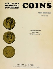 Ancient, medieval, and modern coins : Myers/Adams auction 5 ... [03/15-16/1973]