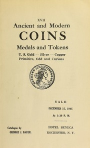 Ancient and modern coins, medals and tokens ... [12/15/1945]