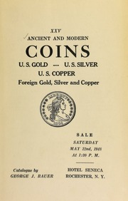 Ancient and modern coins : U.S. gold ... [05/22/1948]