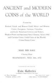 Ancient and Modern Coins of the World: The United States and Latin America