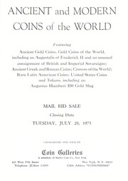Ancient and Modern Coins of the World: Latin America and the United States
