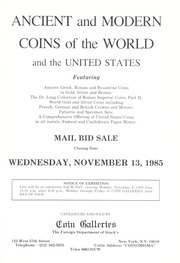 Ancient and Modern Coins of the World and the United States (pg. 182)