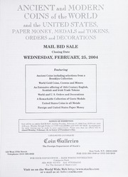 Ancient and Modern Coins of the World and the United States, Paper Money, Medals and Tokens, Orders and Decorations