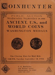 Ancient, U.S., and World Coins, Washington Medals