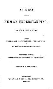 An Analysis of John Locke's An Essay Concerning Human Understanding